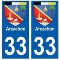 33 Arcachon blason ville sticker autocollant plaque
