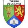 Stickers coat of arms Tauriac-de-Camarès adhesive sticker