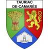 Tauriac-de-Camarès 12 ville sticker blason écusson autocollant adhésif