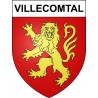 Stickers coat of arms Villecomtal adhesive sticker