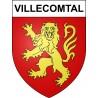 Villecomtal 12 ville sticker blason écusson autocollant adhésif