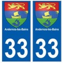 33 Andernos-les-Bains coat of arms city sticker sticker plate