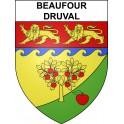 Beaufour-Druval 14 ville sticker blason écusson autocollant adhésif