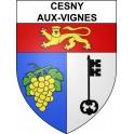 Cesny-aux-Vignes 14 ville sticker blason écusson autocollant adhésif