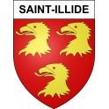 Pegatinas escudo de armas de Saint-Illide adhesivo de la etiqueta engomada