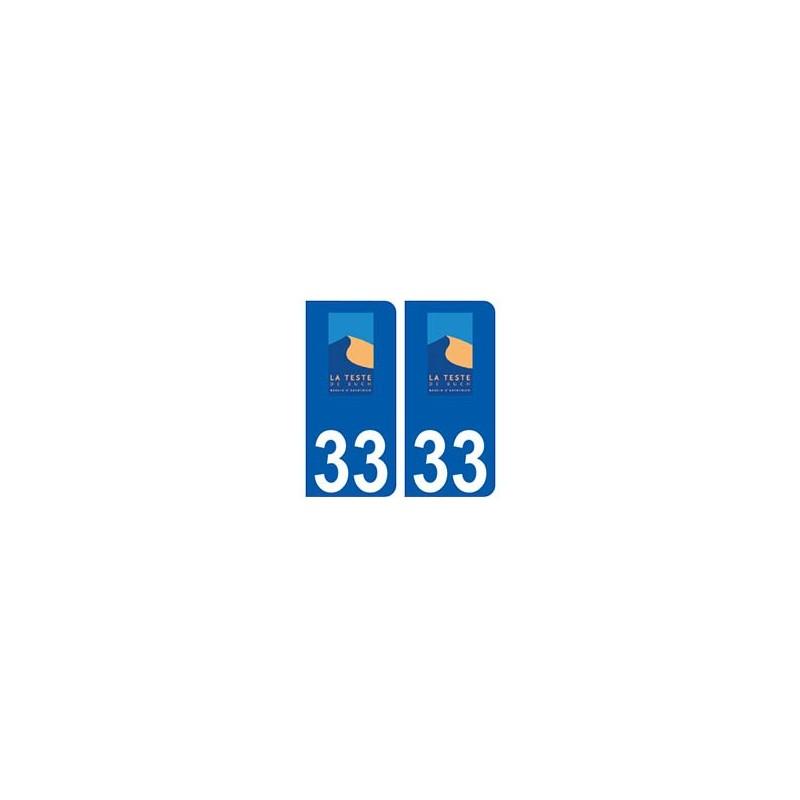 33 la teste de buch logo ville sticker autocollant plaque for Cash piscine la teste de buch