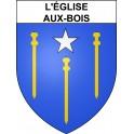 Stickers coat of arms L'Église-aux-Bois adhesive sticker