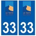 33 La Teste-de-Buch logo ville sticker autocollant plaque