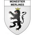 Adesivi stemma Monestier-Merlines adesivo