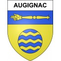 Stickers coat of arms Augignac adhesive sticker