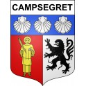 Stickers coat of arms Campsegret adhesive sticker