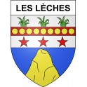 Stickers coat of arms Les Lèches adhesive sticker