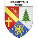 Stickers coat of arms Les Hôpitaux-Vieux adhesive sticker