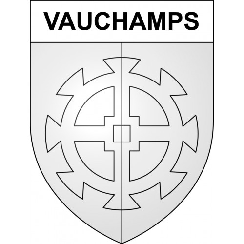 Stickers coat of arms Vauchamps adhesive sticker