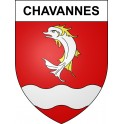 Stickers coat of arms Chavannes adhesive sticker