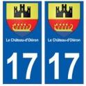 17 Chateau-d'oléron ville autocollant plaque