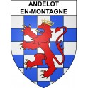 Stickers coat of arms Andelot-en-Montagne adhesive sticker