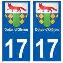 17 Dolus-Doléron ville autocollant plaque