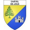 Stickers coat of arms Châtel-de-Joux adhesive sticker