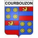 Stickers coat of arms Courbouzon adhesive sticker
