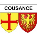 Stickers coat of arms Cousance adhesive sticker