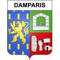 Damparis Sticker wappen, gelsenkirchen, augsburg, klebender aufkleber