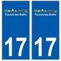 17 Fouras logo ville autocollant plaque