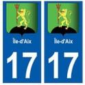 17 Île-d'Aix blason ville autocollant plaque