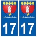 17 La Brée-les-Bains blason ville autocollant plaque