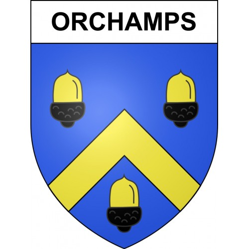 Stickers coat of arms Orchamps adhesive sticker