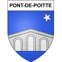 Adesivi stemma Pont-de-Poitte adesivo