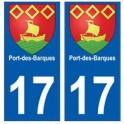 17 Port-des-Barques blason ville autocollant plaque