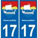 17 Ronce-Les-Bains autocollant plaque immatriculation auto ville sticker