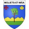 Stickers coat of arms Moliets-et-Mâa adhesive sticker