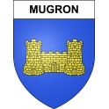 Stickers coat of arms Mugron adhesive sticker