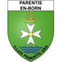 Stickers coat of arms Parentis-en-Born adhesive sticker