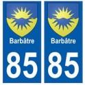 85 Barbâtre stadt aufkleber plakette wappen