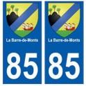 85 La Barre-de-Monts ville autocollant plaque blason