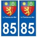 85 La Tranche-sur-Mer ville autocollant plaque blason