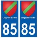 85 Longeville-sur-Mer ville autocollant plaque blason