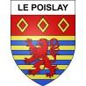 Pegatinas escudo de armas de Le Poislay adhesivo de la etiqueta engomada