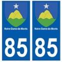 85 Notre-Dame-de-Monts ville autocollant plaque blason