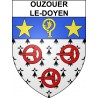 Stickers coat of arms Ouzouer-le-Doyen adhesive sticker