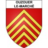 Stickers coat of arms Ouzouer-le-Marché adhesive sticker