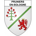 Stickers coat of arms Pruniers-en-Sologne adhesive sticker