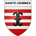 Stickers coat of arms Sainte-Gemmes adhesive sticker