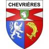 Chevrières 42 ville sticker blason écusson autocollant adhésif