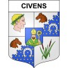 Stickers coat of arms Civens adhesive sticker