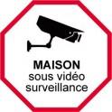 Sticker House under video surveillance alarm 2