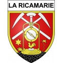 Stickers coat of arms La Ricamarie adhesive sticker
